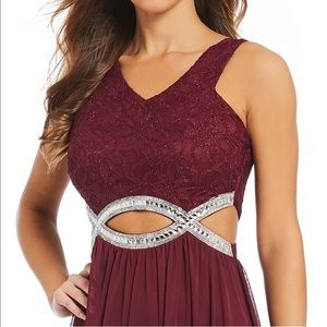 fd0e62b9d27 Xtraordinary Dresses - ❤️Burgandy Xtraordinary Lace Waist Long dress prom